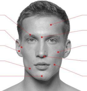 Зоны лазерной эпиляции лица
