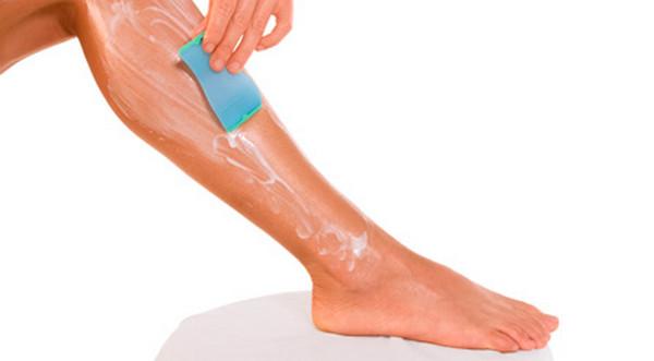 Применение крема для депиляции ног