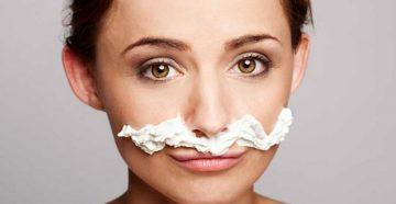 Используем крем для депиляции на лице