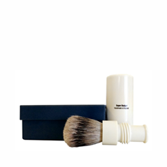 Помазки Truefitt&Hill Turnback Travel Shave Brush Faux Ivory Super Badger (Цвет Faux Ivory  variant_hex_name E1D8B7)